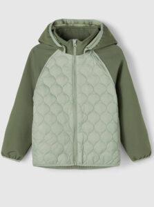 Zelená detská prešívaná bunda name it Mana