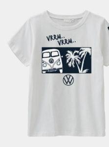 Biele chlepčenské tričko s potlačou name it Linus