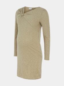 Béžové tehotenské púzdrové šaty Mama.licious Viola