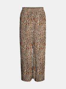 Béžové vzorované skrátené nohavice Noisy May Fiona