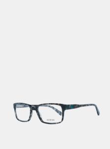 Modro-šedé pánske vzorované okuliarové obrúčky Guess