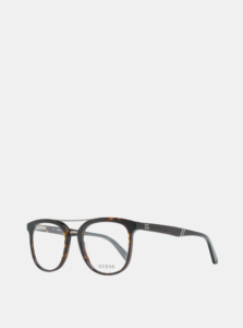 Hnedo-čierne pánske okuliarové obrúčky Guess