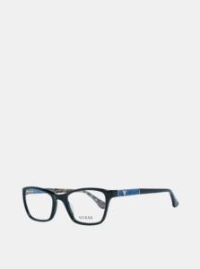 Modro-čierne dámske vzorované okuliarové obrúčky Guess