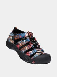 Čierne chlapčenské vzorované sandále Keen