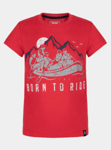 Červené chlapčenské tričko s potlačou LOAP
