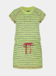 Zelené dievčenské pruhované šaty so zaväzovaním LOAP
