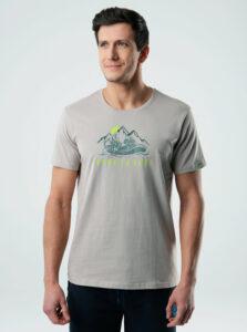 Béžové pánske tričko s potlačou LOAP
