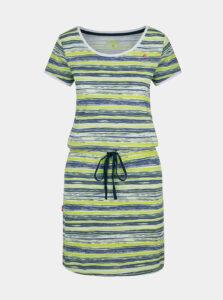 Modro-zelené dámske pruhované šaty so zaväzovaním LOAP