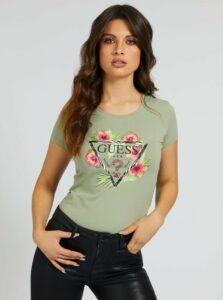Guess khaki tričko Rebeca Tee