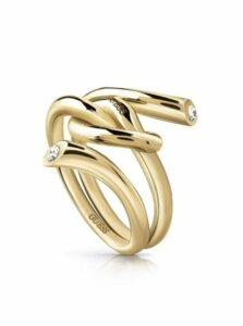 Guess zlaté prsteň Knot