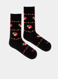 Čierne vzorované ponožky Fusakle Kohout