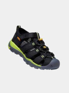 Čierne chlapčenské sandále Keen