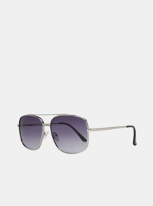 Pánske slnečné okuliare v striebornej farbe Guess