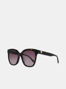 Hnedo-čierne dámske vzorované slnečné okuliare Guess