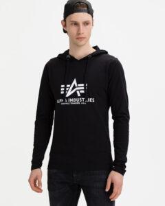 Alpha Industries Basic Hooded Heavy Mikina Čierna