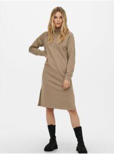 Béžové mikinové šaty Jacqueline de Yong Lucy